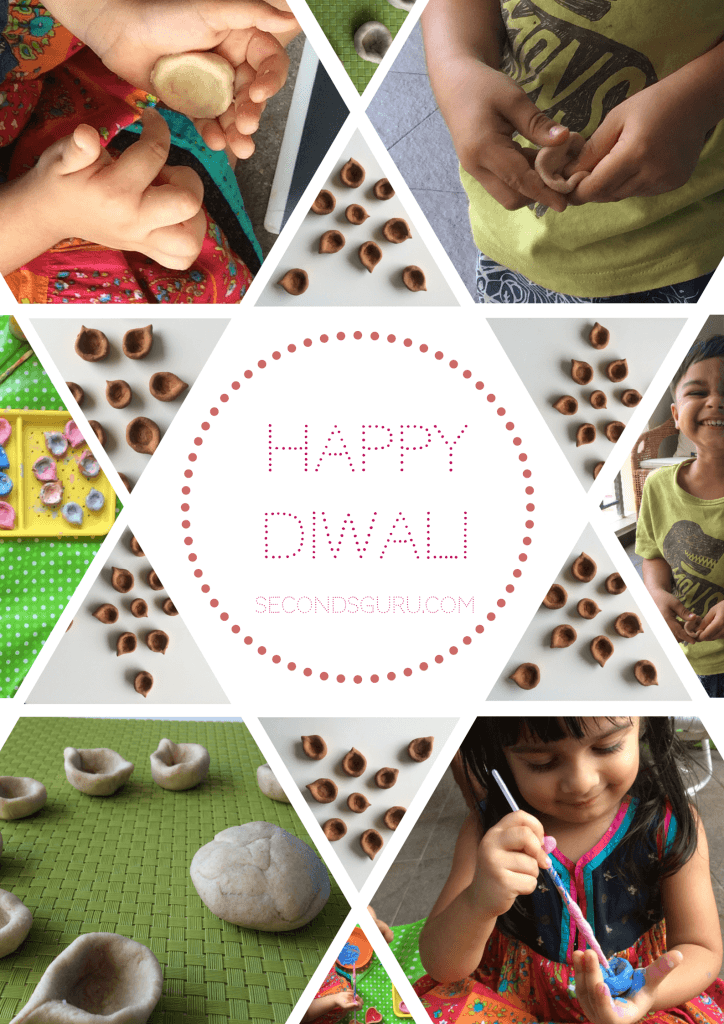 Deepavali / Diwali - bake your own Diyas. Kid-friendly activities