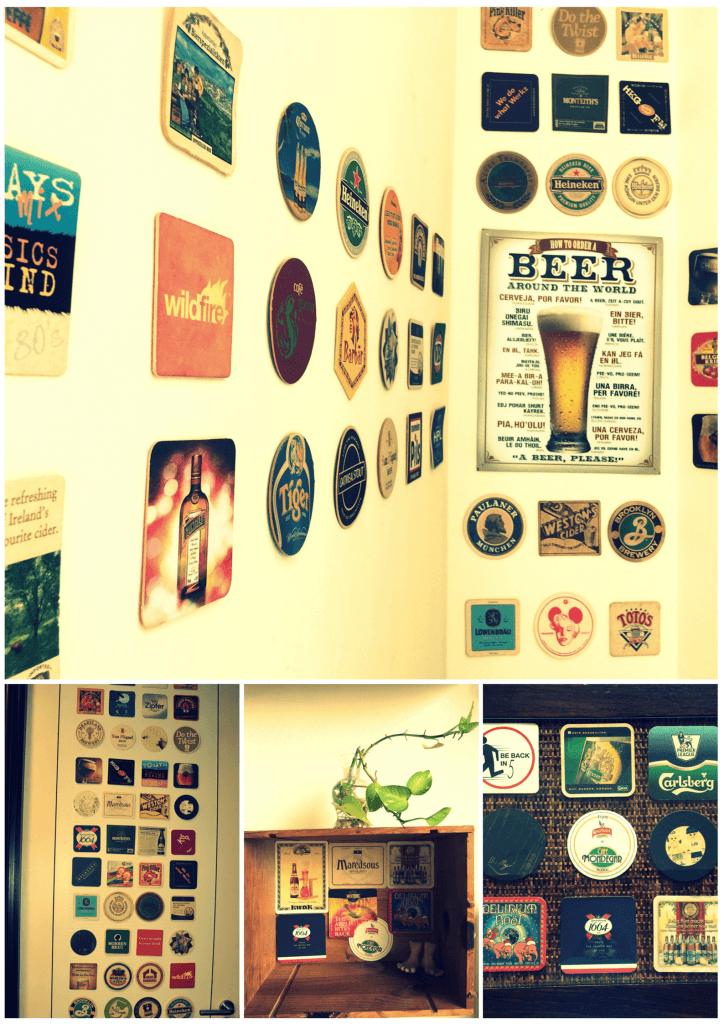 display your beer coasters
