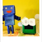 Recycling used tissue boxes