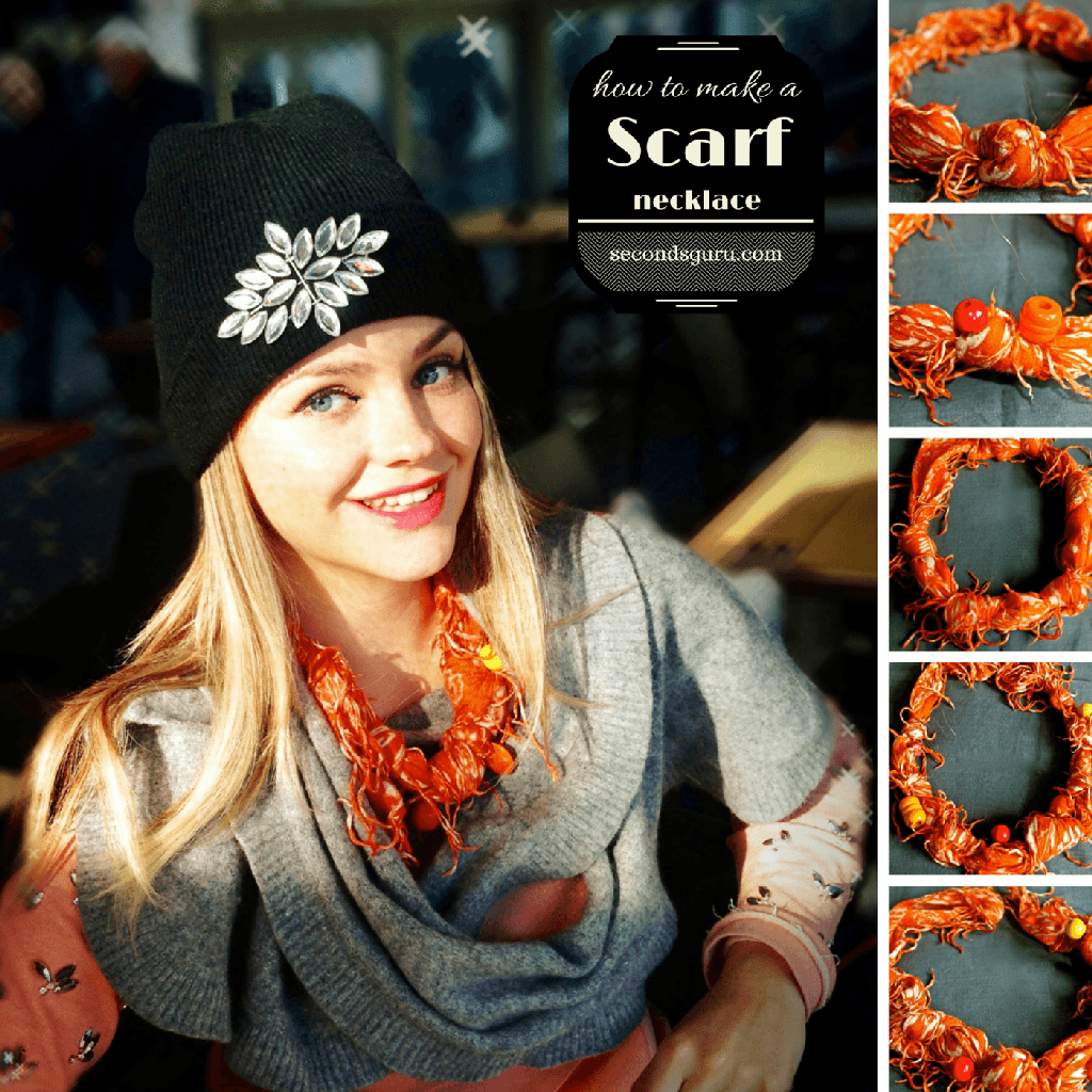 This Christmas, spice up your wardrobe and turn your brightest scarf into a necklace. Try your hand at this cool and easy scarf tying DIY technique!