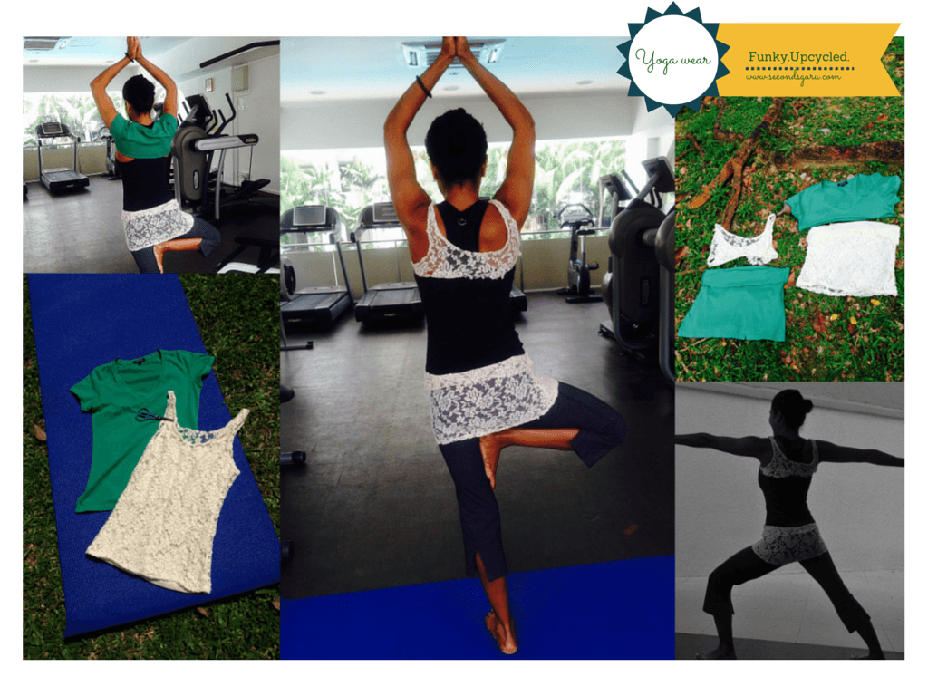 Upcycle old T shirt to make yoga wear
