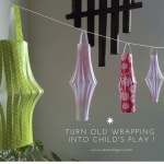 Turn old wrapping paper into festive lanterns, colorful rockets or origami designs! Secondsguru.com lists ideas to turn leftover gift wrap into a day full of kids activities!