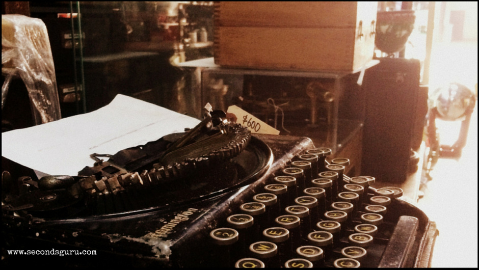 An old school typewriter for sale at Tong Mern Sern Antiques