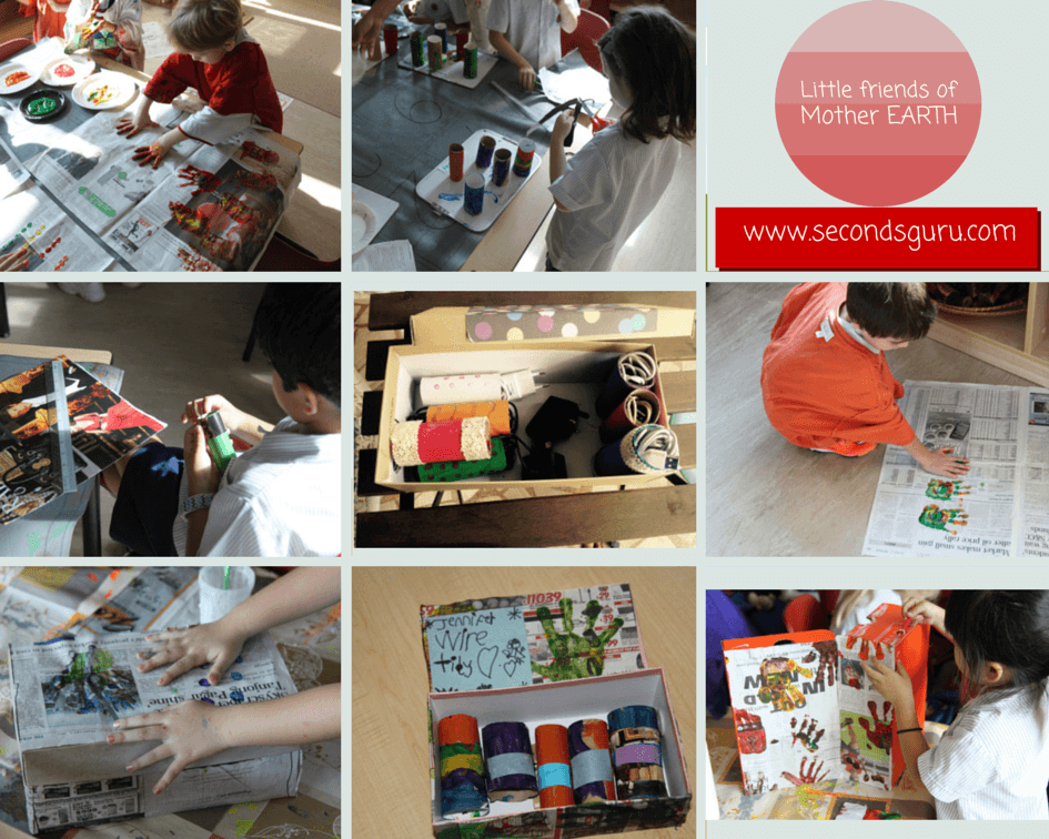 Toilet Paper to wire organizer, Shoe box to storage box, Kids art and craft