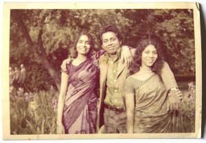 Mom with her elder brother and a friend