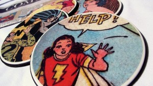 Eco-Friendly Gifts for Him: DIY comic book coasters