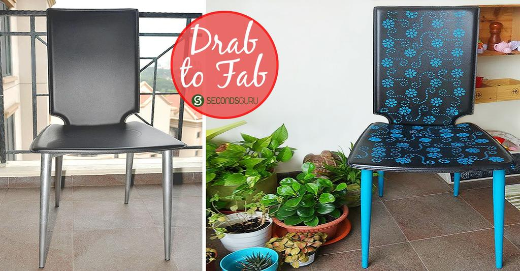 Drab to Fab| Office Chair Makeover- Fall in love with your old furniture again! All you need to revive a pre-loved piece is a bit of creativity. Click through for some creative inspiration