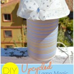 DIY | Upcycled Lamp Magic- Light up your kid's world with this DIY lamp that would also add an adorable touch to his or her room. Click through to read more .