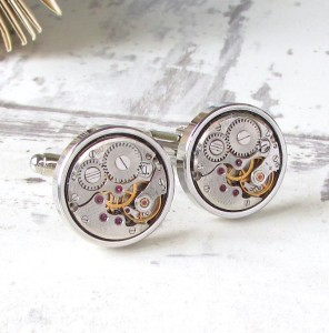 Eco-Friendly Gifts for Him: Vintage watch movement cufflinks
