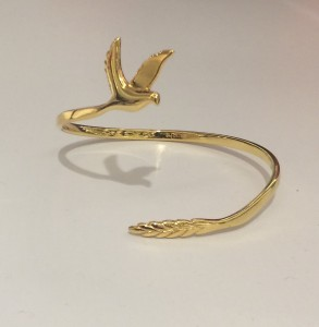 Gifts for Her |10 Eco-Friendly Buys- Pursuing Peace Gold Bangle by Saught