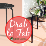Drab to Fab  IKEA Stool Makeover- An old Ikea stool transformed to a stylish side table: DIY inspiration for the maker in us! Click through to find out more
