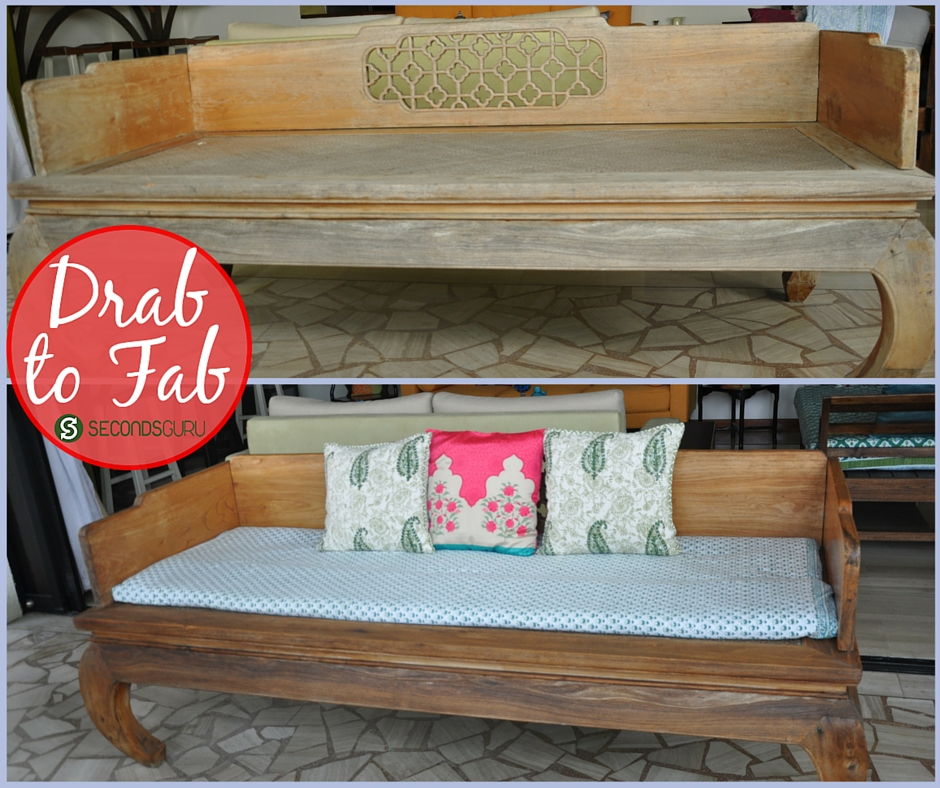 Sanding and upcycling teak furniture at home