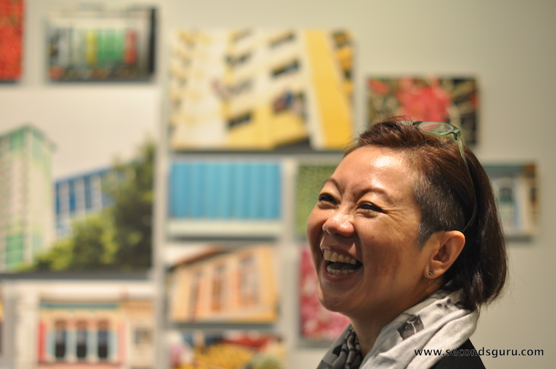 Anita Sam, the founder of Journey East with the images of SouthEast Asia that are incorporated in the Playplay collection