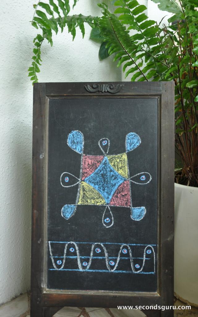Chalkboard Rangoli Design