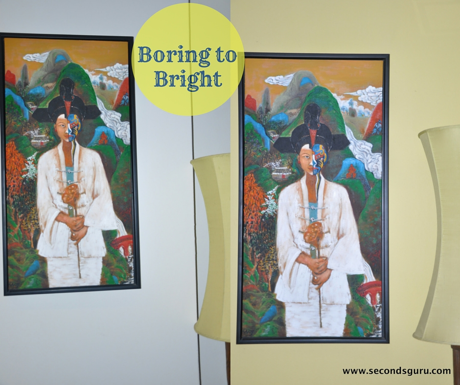 Boring to bright featured wall