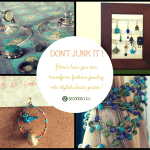 Don't discard old junk jewelry - transform it into stylish home decor!