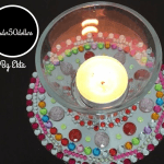 Under50dollars | Engage young kids in this sparkly DIY project this Diwali! You can upcycle old CDs into diya / tealight bases and see how a small budget can yield immense glitter!
