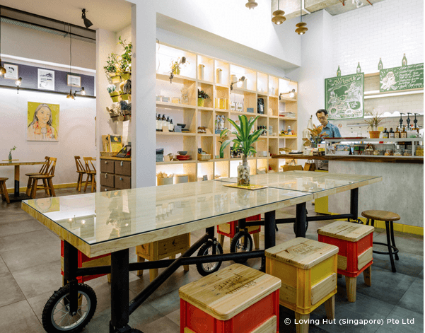 Super 7   Vegetarian restaurants in Singapore you must try out! Featured here: Loving Hut at Joo Chiat Road.