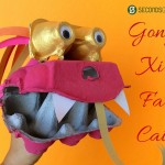 Chinese New Year crafts for kids   make a dragon puppet out of egg boxes