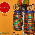 Upcycle old glass jars from pastas and pickles into a beautiful lamp