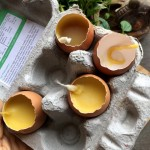 Upcycle eggshells into candles in a unique Easter DIY