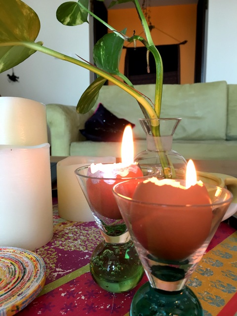 Upcycle eggshells into candles in a unique Easter DIY.