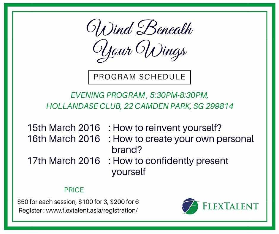 Workshop by FlexTalent - Wind beneath your wings - reinvent yourself