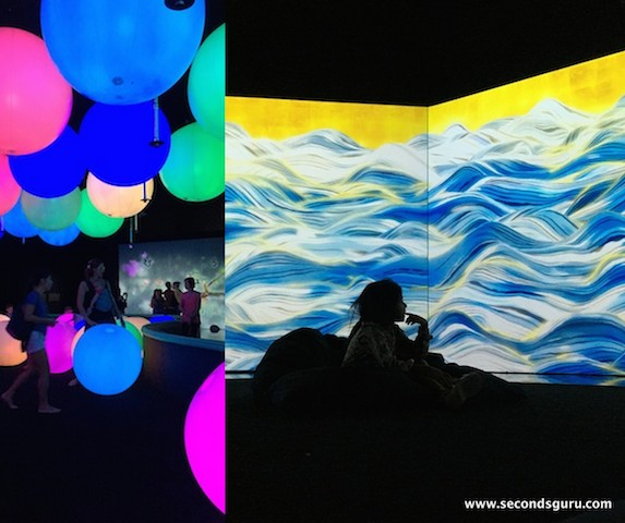 Future world with kids at art and and science museum singapore