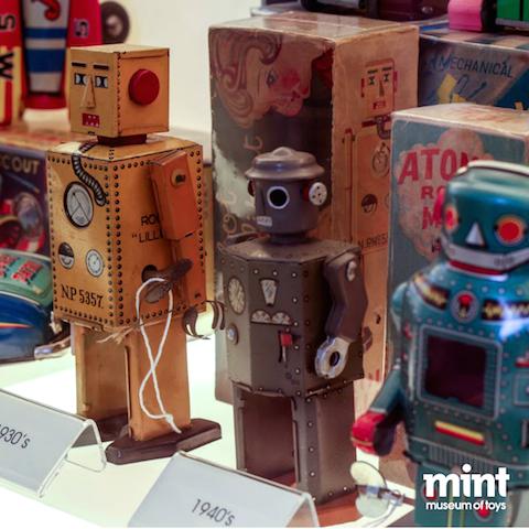 Vintage robots at the Mint museum