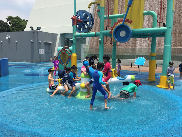 Water works at Science Centre, Singapore