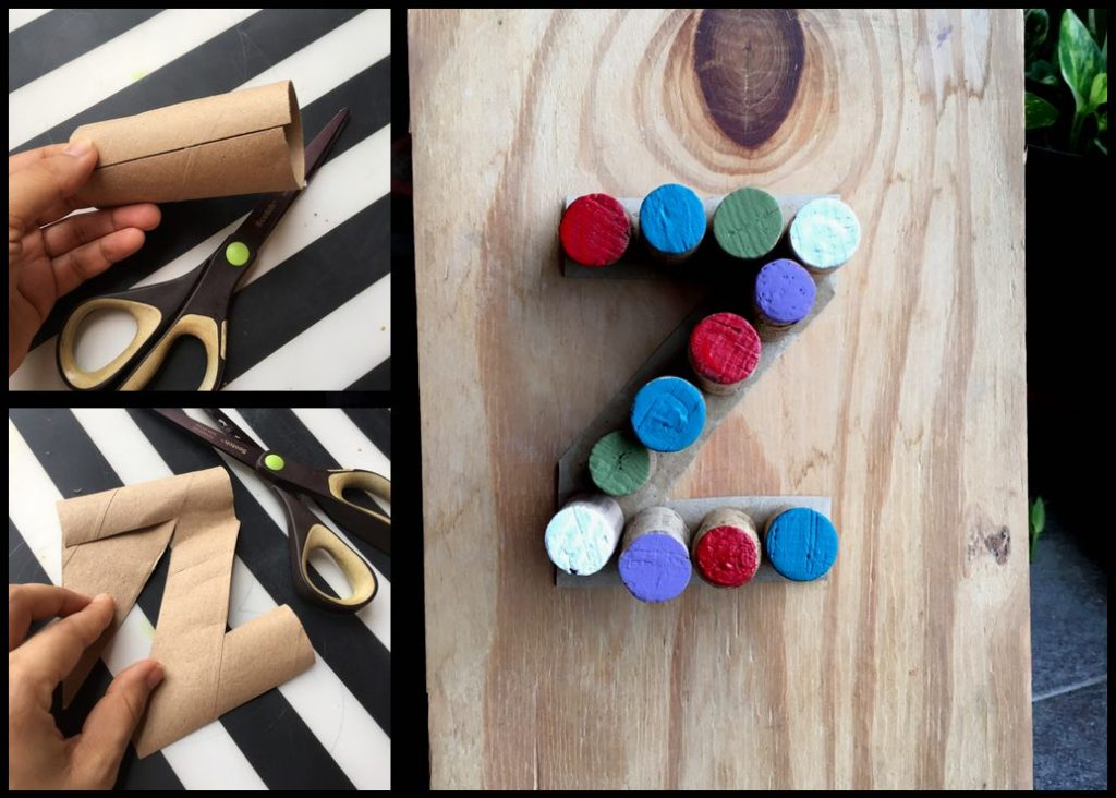 Turn wine corks into child's play this summer break! Create alphabet letters with your kids in this craft activity. [More ideas in the link!]