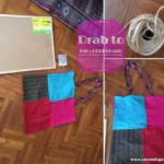 Cork board DIY using old bag