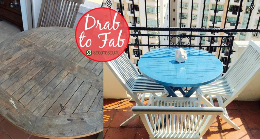 Drab to Fab  Weathered furniture gets a new lease of life in this easy DIY project. From sun-burnt teak table to a Grecian blue patio delight!