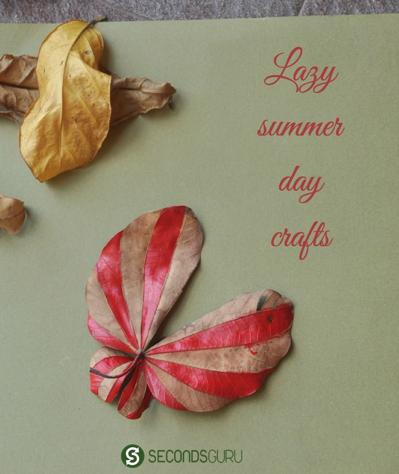 lazy summer day leaf craft