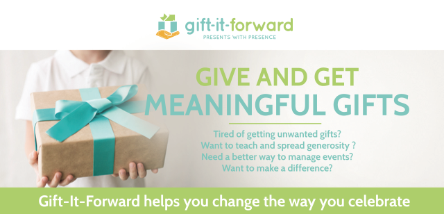 gift it forward, theresa evanoff,birthday, kids, charity