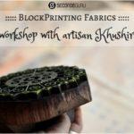 Blockprinting fabrics | Workshop with artisan Khushiram