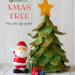 Kids Crafts | Create a miniature Christmas tree out of egg cartons! A fun holiday activity this Xmas season