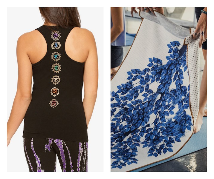 Touch the toes, gifts ideas, yoga top, mat, towel
