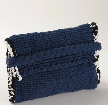 hand knitted fabric clutch ittakesballs singapore