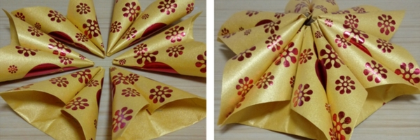 Hong Bao crafts - use your Chinese New Year red envelopes for fun crafts! Read how you can make a traditional lotus flower with hong bao / ang pow / lai see.