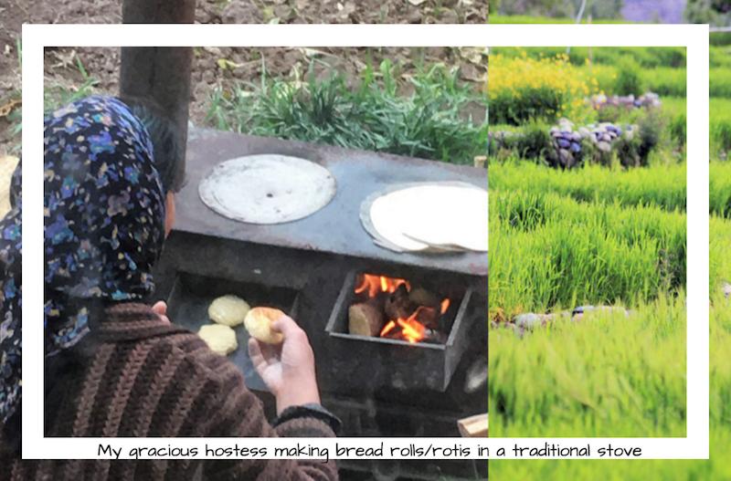 Ladakh cooking in traditional stove, ananya, secondsguru