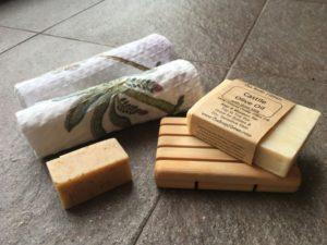 Handmade soaps using minimal ingredients.
