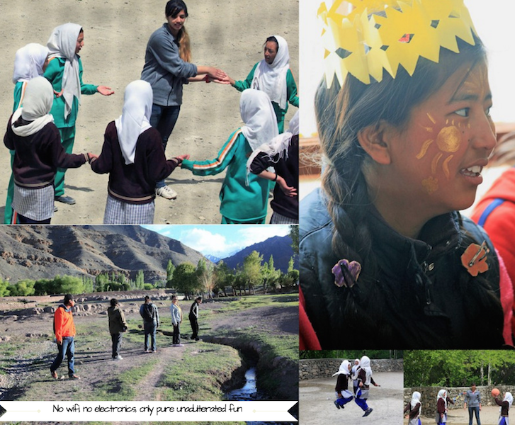 ladakhi kids playing in nature, secondsguru, ananya