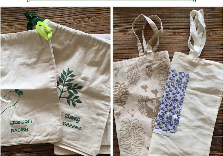 eco friendly fabric bags for vegetables and fruits shopping