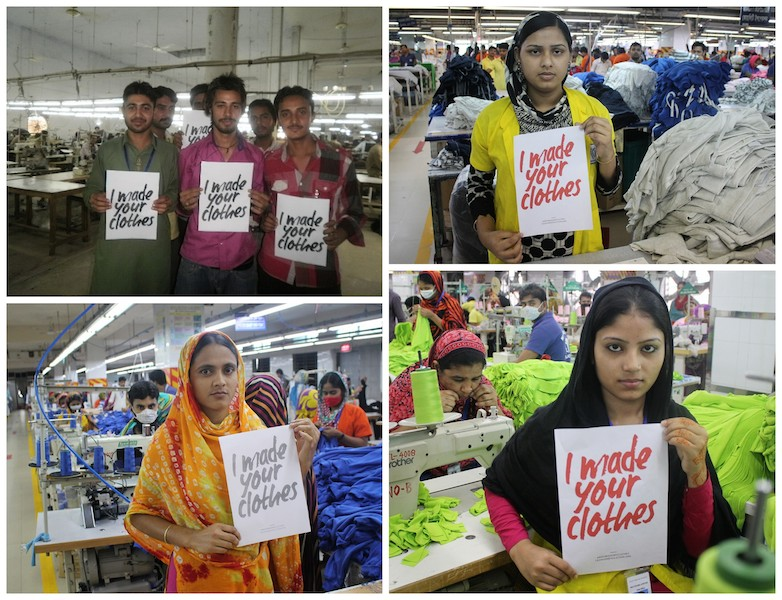 factory workers saying I made your clothes at Mantis world partner factories