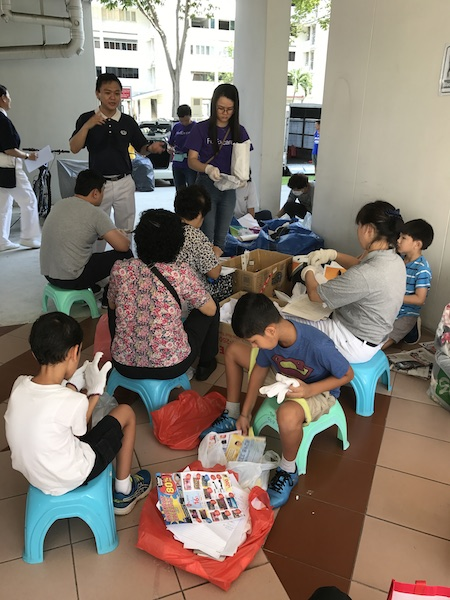 Tzu Chi Foundation recycling in HDB