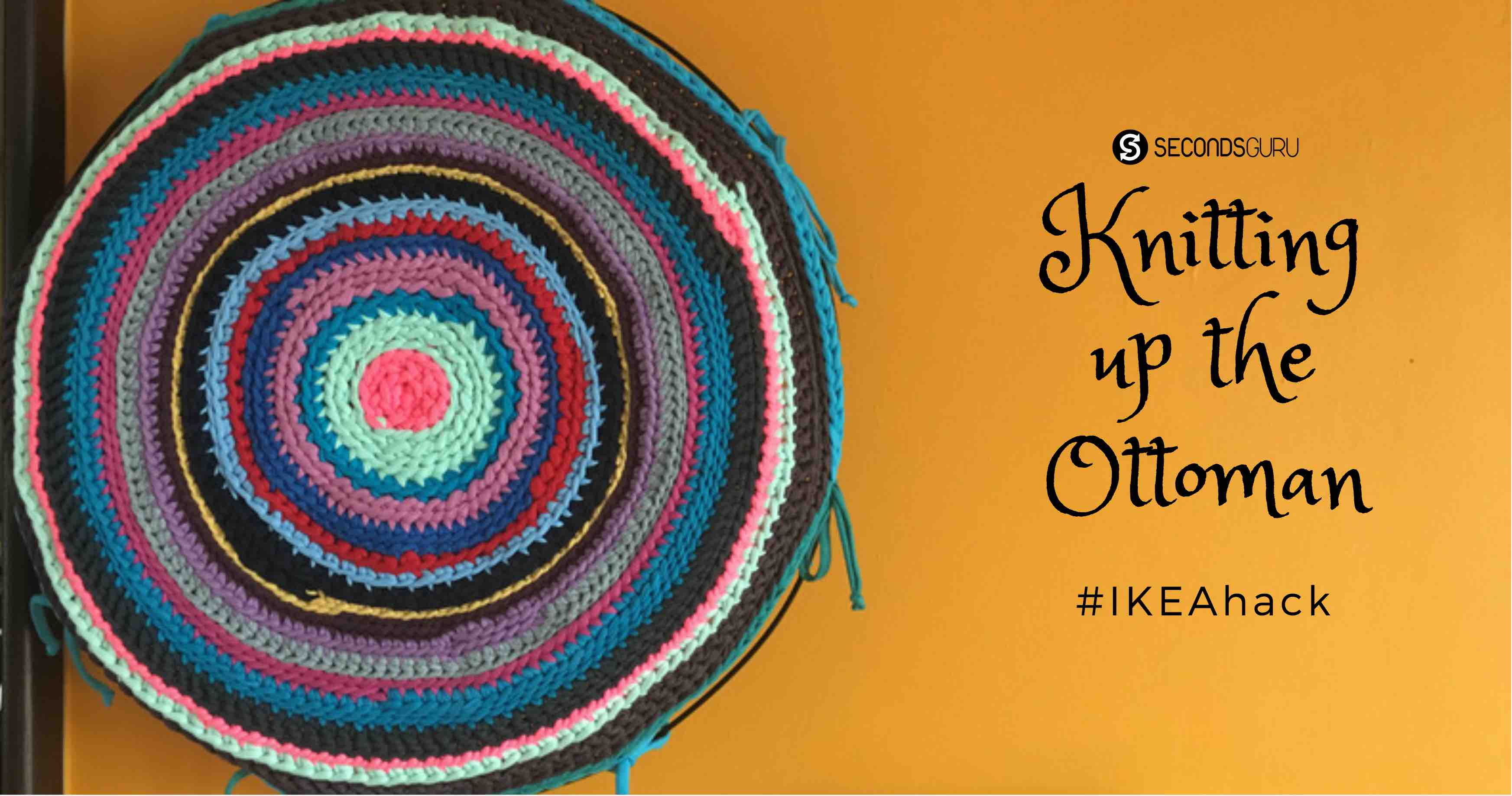 ikeahack alseda ottoman with knit