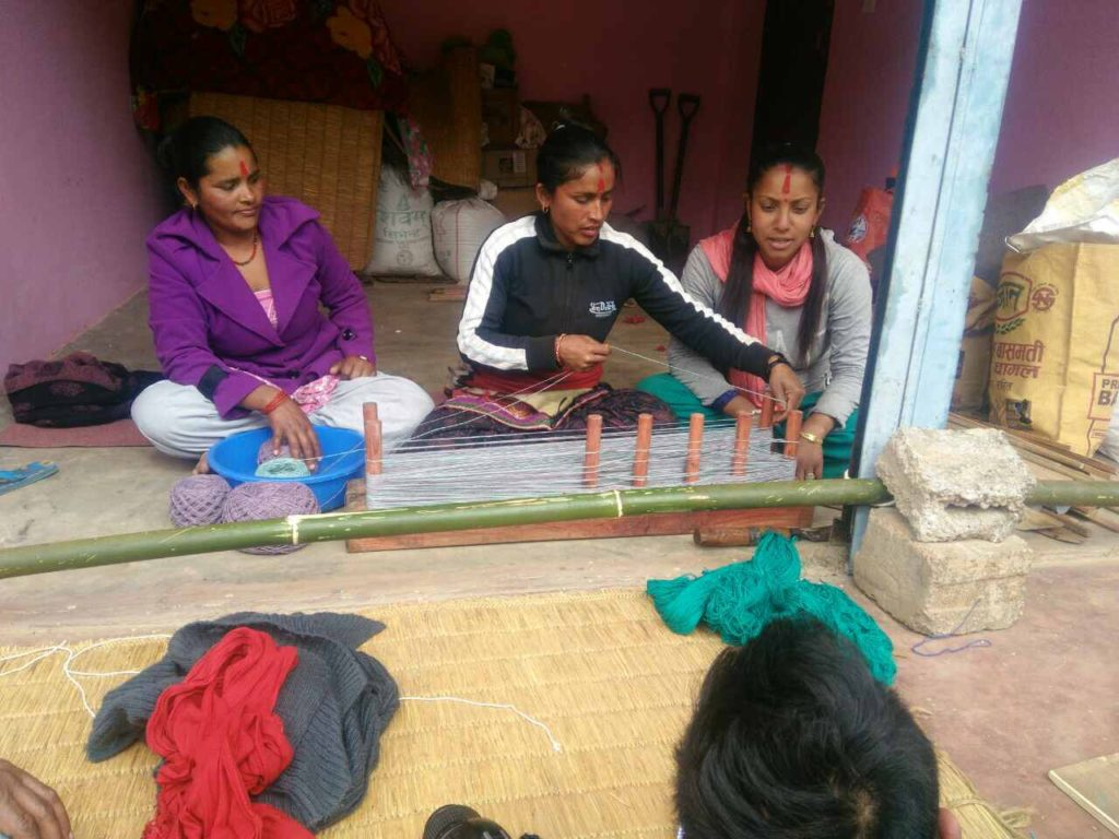 pokhara collection looming in progress in nepal