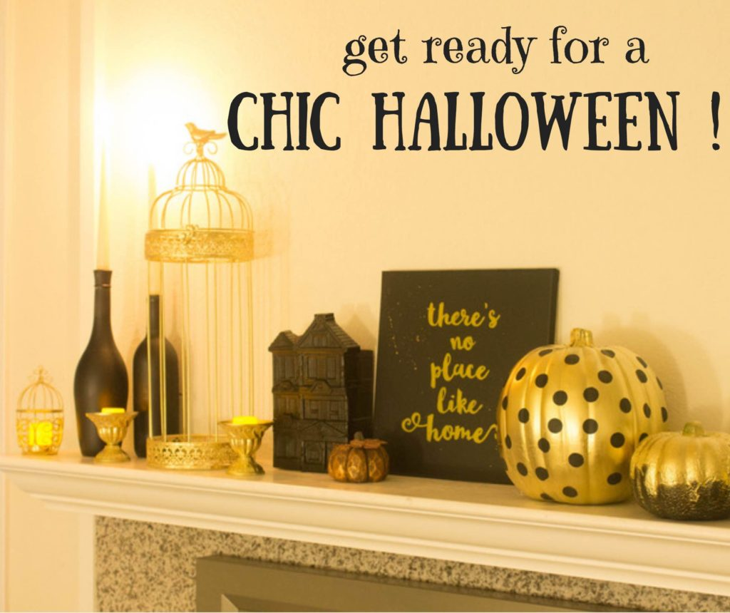 chic halloween decor upcycled