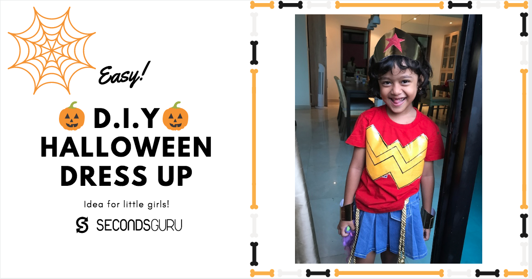 diy wonder woman costume for girls secondsguru greenlivingmadeeasy